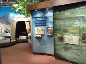 Interactive learning items in the Visitors Center